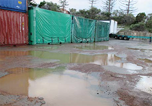 Unsafe North Freo Yard Disgraces Toll