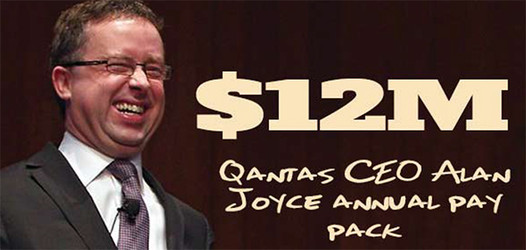 TWU Slams Alan Joyce Over $12m Pay Packet