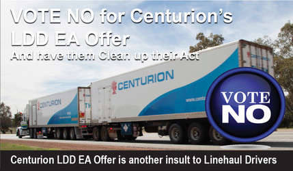 Centurion LDD EA Offer - their Latest Insult to Linehaul Drivers